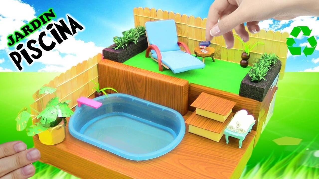 Como hacer piscina con jardin para casa de mu ecas barbie - Casas miniaturas para construir ...