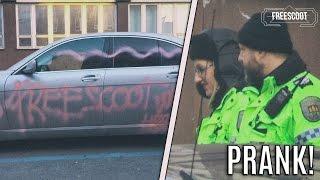 PRANK NA MIKEJEPAN - POSPREJOVANÉ AUTO + ZÁSAH POLICIE! | #freescoot