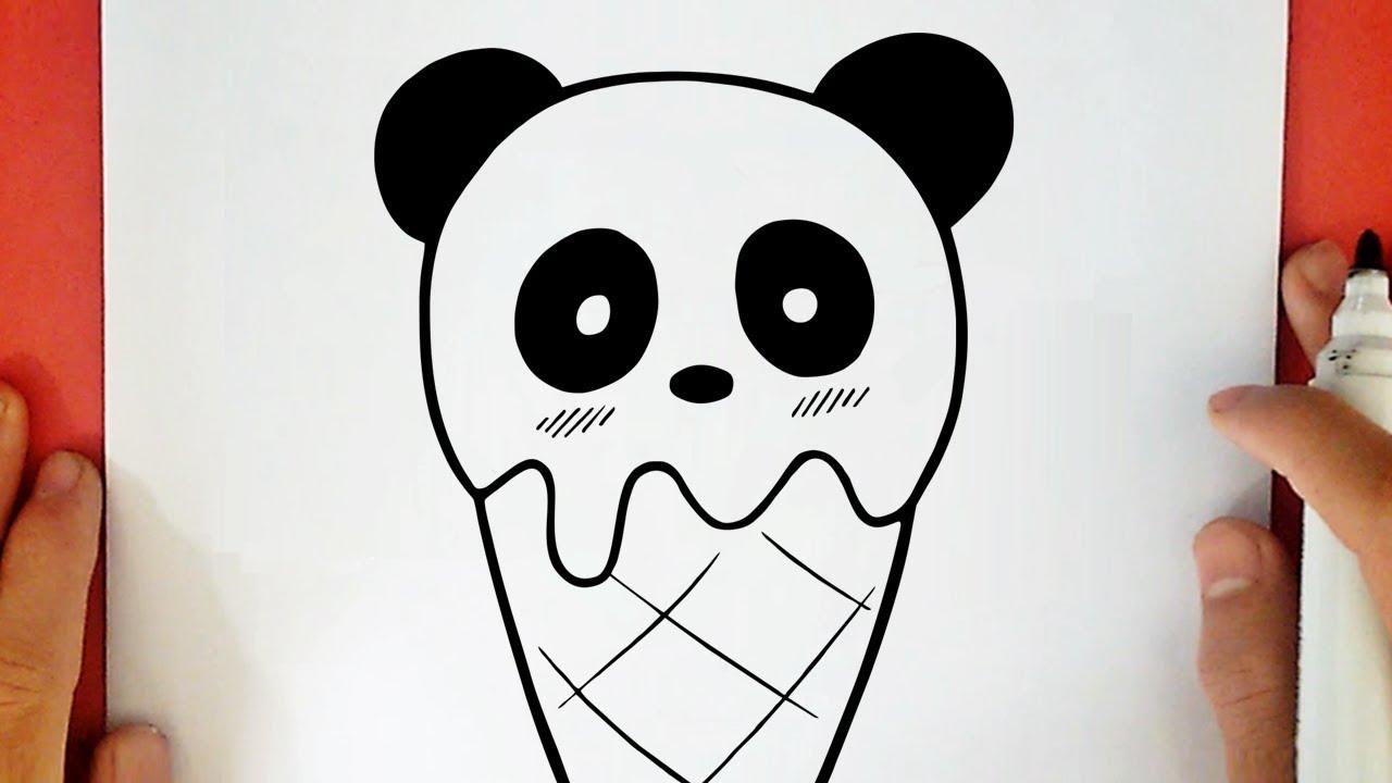 Como Desenhar Um Sorvete De Panda Kawaii