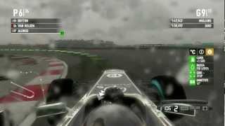 F1 2011 Gameplay Ita PC Gran Premio Malesia Kuala Lumpur Gara #2 -Guidare o Nuotare?-