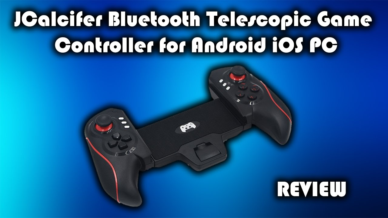 Jcalcifer bluetooth telescopic gamepad for android ios and pc.