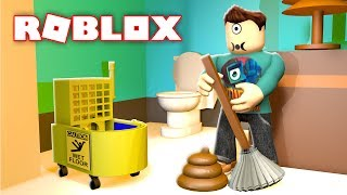 CLEANING SIMULATOR IN ROBLOX!!! | MicroGuardian