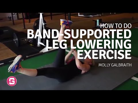 Band Supported Leg Lowering How To Do Band Supported Leg Lowering Exercise
