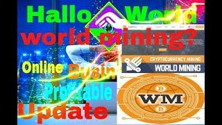 World mining best mining platform review on 2018 Par day ultimate income for online