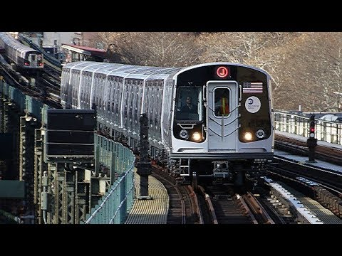 ⁴ᴷ Riding an R179 J Train from Jamaica Center Parsons/Archer to Broad Street (Side Window View)