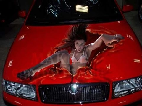 Крутой тюнинг | Тюнинг  3D аэрография авто //  ART Airbrush Cool car tuning ( HD )