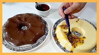 Pudim de Chocolate e Maracujá sem ovos e sem Forno