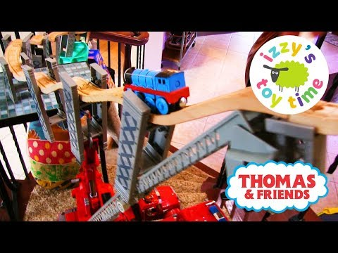 Thumbnail: THOMAS TRAIN SPIRAL STAIR CHALLENGE! Thomas and Friends with Brio | Fun Toy Trains for Kids!