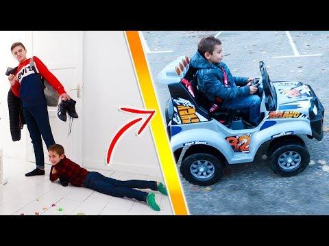 NÉO ABANDONNE SWAN, IL REJOINT SA COPINE ! Kids Pretend Play Power Wheels Ride On Car