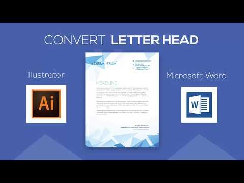 Convert  Letterhead Design From Adobe Illustrator To Microsoft Word Document