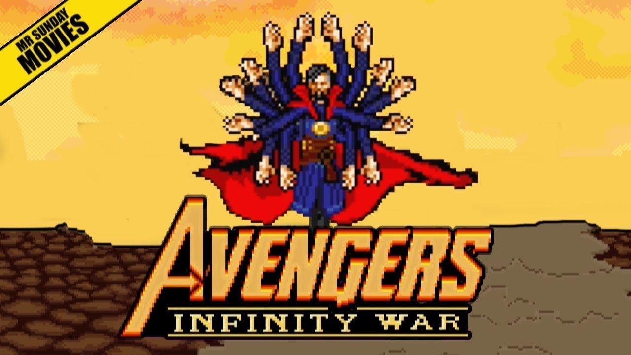 Посмотрите, как выглядел фильм «Мстители: Война бесконечности», если бы был пиксельной игрой из 90-ых