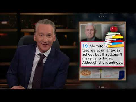 Mike Pence: 25 Things You Don't Know About Me   Real Time with Bill Maher (HBO)