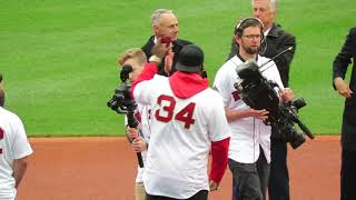 Red Sox Ring Ceremony Opening Day at Fenway Park Boston 4/9/19