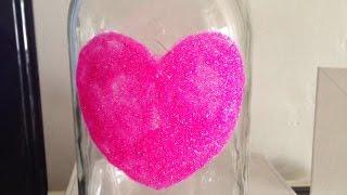 Make A Glitter Heart Mason Jar - Diy Home - Guidecentral