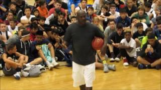 Michael Jordan Flight School 2017:  MJ Teaches Fundamentals and Life Lessons