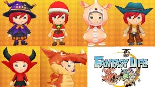 Fantasy Life Costumes + Link To Passwords - What Is Your Favourite?