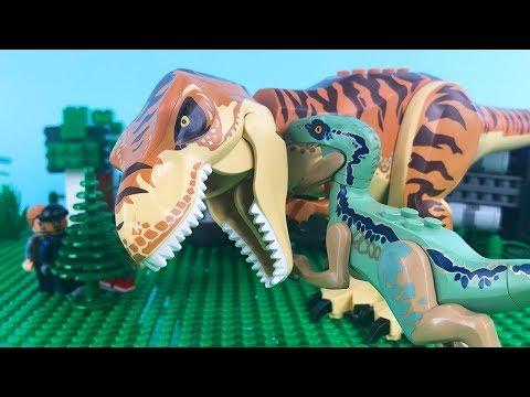 LEGO Jurassic World STOP MOTION LEGO Jurassic World: T-Rex vs Velociraptor   LEGO   By Billy Bricks
