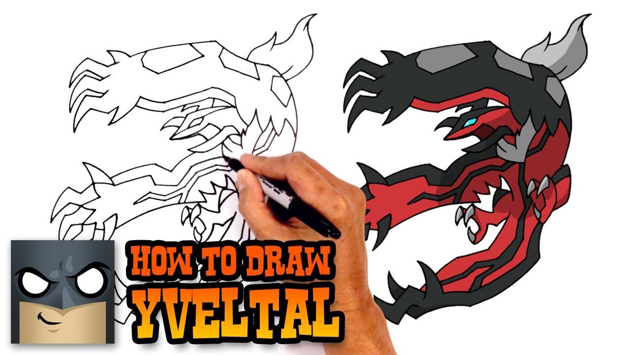 How to Draw Yveltal | Pokemon #1