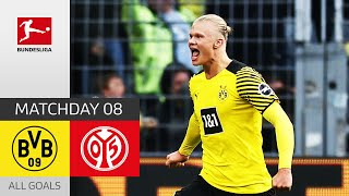 Haaland Brace Seals the Deal! | Borussia Dortmund - 1. FSV Mainz 05 3-1 | All Goals | Matchday 8