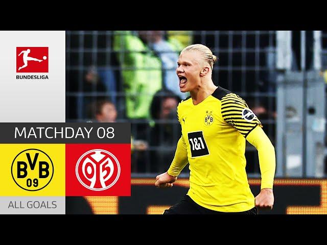 Haaland Brace Seals the Deal!   Borussia Dortmund - 1. FSV Mainz 05 3-1   All Goals   Matchday 8