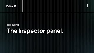 Introducing the Inspector panel. | Wix.com | Editor X