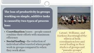 Group Dynamics 10b Performance Social Loafing