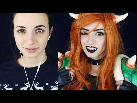[ASMR] Female Bowser Cosplay Makeover (Walkthrough)