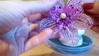орхидея из бисера .Первая часть делаем вместе