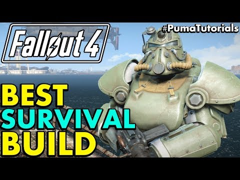 Fallout 4: Best Character Build for Survival Mode (Survival Build Guide 2017) #PumaTutorials