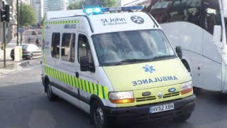 st john ambulance response   hv52 xbn   emergency ambulance   renault master