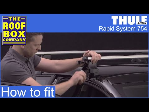 thule rapid system gutterless feet 754 youtube. Black Bedroom Furniture Sets. Home Design Ideas