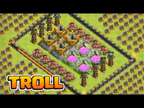 Thumbnail: TROLEI GERAL !! LAYOUT TROLL DOS RECURSOS NO CLASH OF CLANS !!
