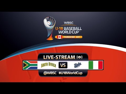 South Africa v Italy - Super Round - WBSC U-18 Baseball World Cup 2017