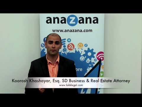 Koorosh Khashayar Esq., San Diego Business and Real Estate Lawyer about anaZana