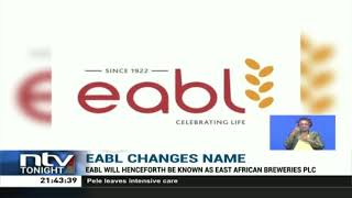 EABL changes its name to East Africa Breweries PLC