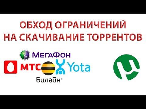 Как скачивать торренты на МТС, Билайн, Мегафон, Ростелеком