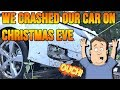 We Crashed our Chevy Volt on Christmas Eve - Did we survive?
