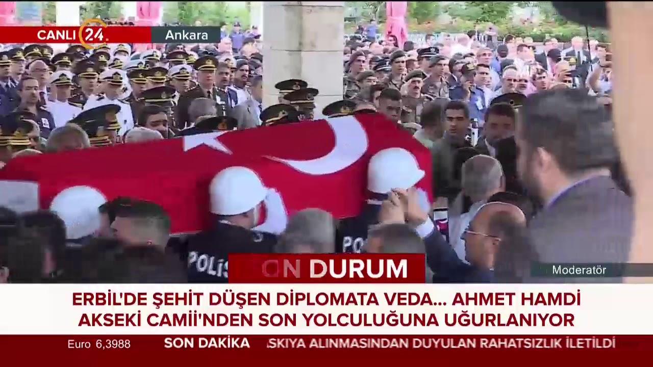 Erbil şehidi Osman Köse son yolculuğuna uğurlanıyor