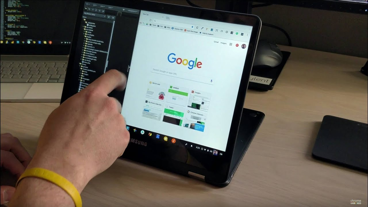 Chromebook Split Screen Tablet Mode Demo Youtube