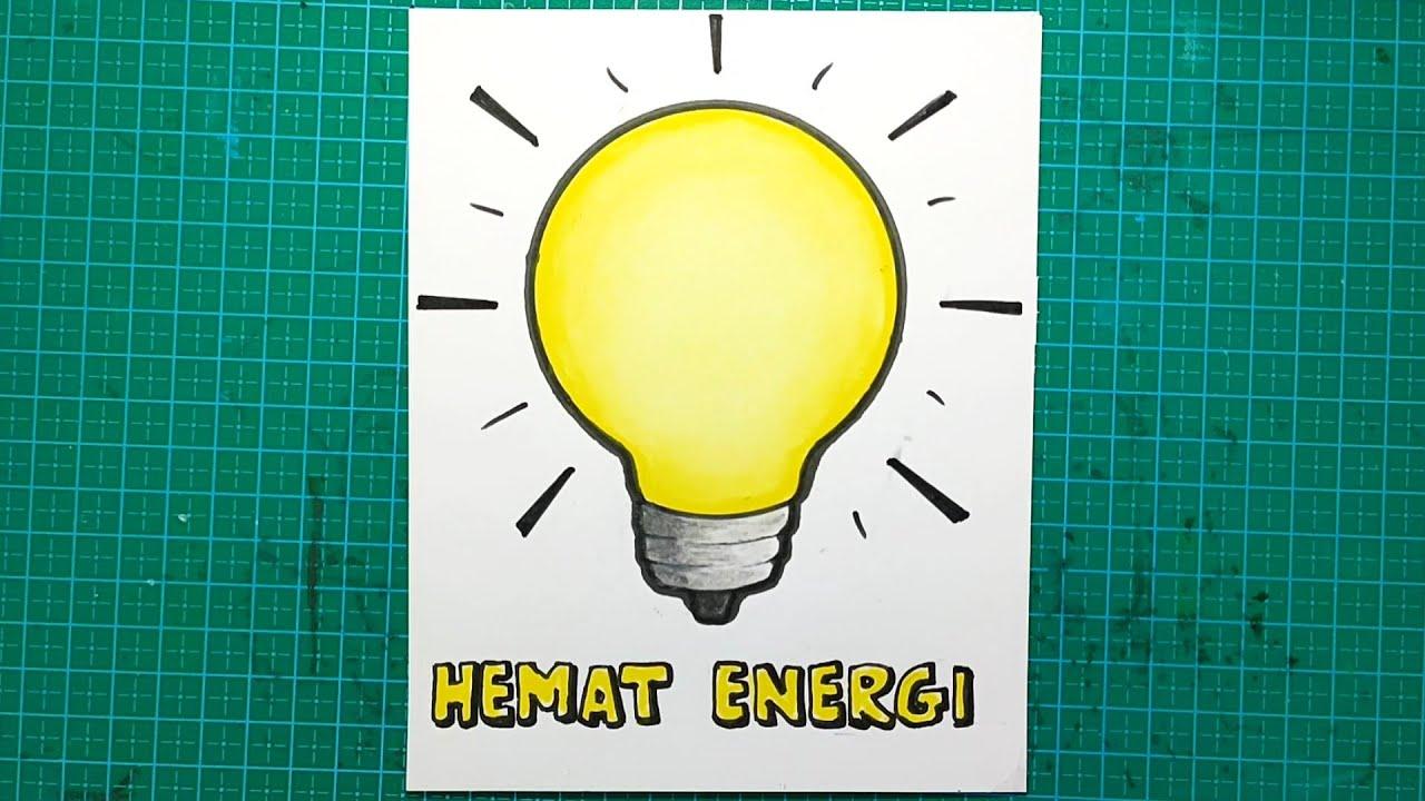 Cara membuat poster hemat energi mudah banget