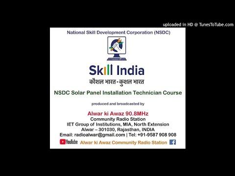 3 NSDC Solar Panel Installation Technician Course