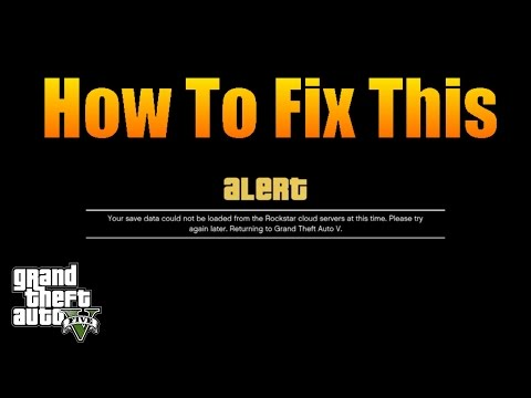 Gta V Online - How To Fix Save Data Couldn't Be Loaded Error (PS4)