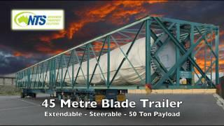 NTS Wind Turbine Haulage Drake Trailer