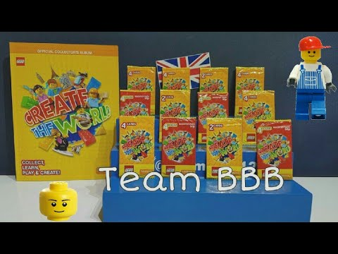 Lego Create The World Cards 2 Sainsburys Lego Trading Cards Lily And Sam Booster Packs And Book Youtube