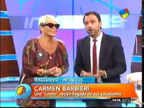 """Carmen Barbieri reapareció en televisión con un """"ojo explotado"""""""
