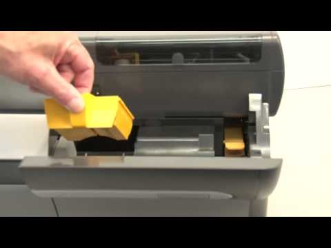 Replace the Cleaning Rollers on the Zebra ZXP Series Printer