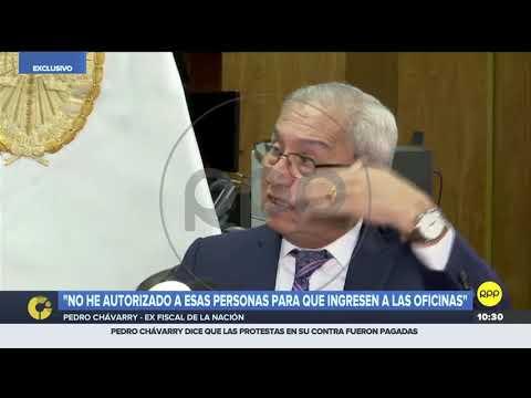 Pedro Chávarry dice que encuentro con asesora luego de que retiró documentos 'fue coincidencia'