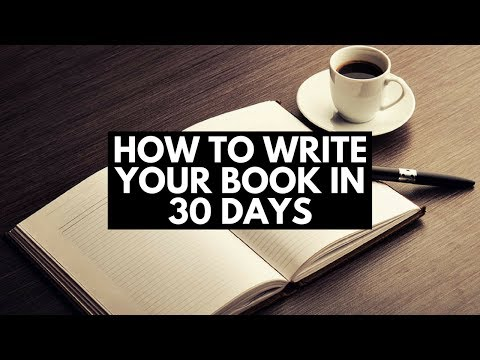 How To Write Your Book in 30 Days