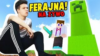 Minecraft Ferajna 4: GŁOWA W BETONIARCE! - Na żywo