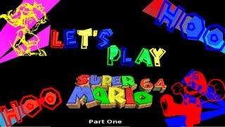 Let's Play Super Mario 64:pt1 Invitation To Cake! Yum!